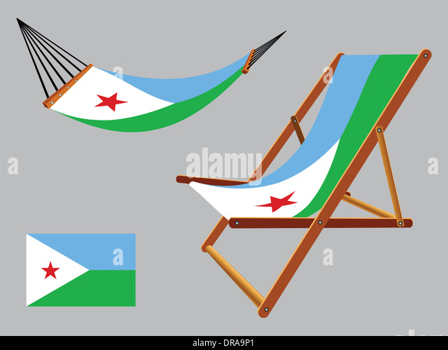 Tanzania Hammock Deck Chair Set Against Stock Vector 163430417 ...