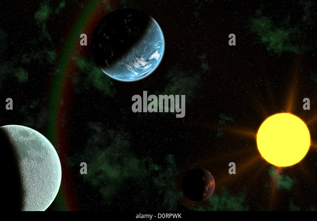 sun flare with planets - photo #6