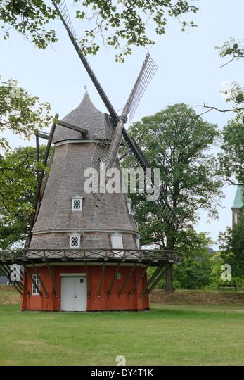 old decorative windmill in aalborg denmark stock image - Decorative Windmills
