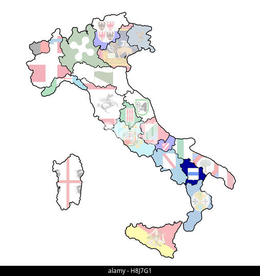 Basilicata Province Map Stock Photos Basilicata Province Map Stock