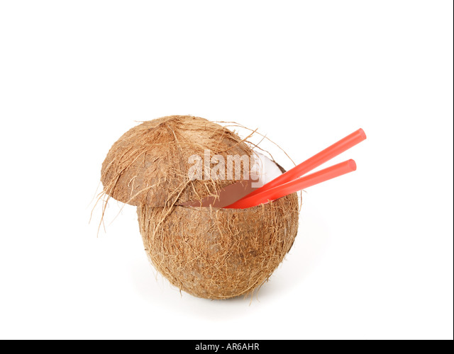 how to drink a coconut with a straw