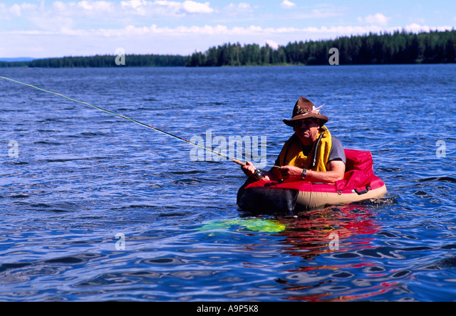 Belly boat stock photos belly boat stock images alamy for Belly boat fishing