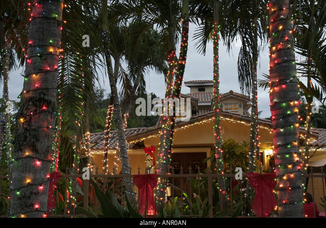 Christmas Lights In Miami Stock Photos & Christmas Lights In Miami ...