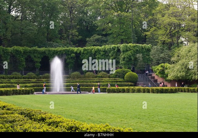 Central Park Conservatory Garden New York Stock Photos