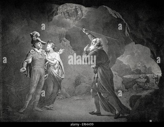 Prospero and fernando in the tempest