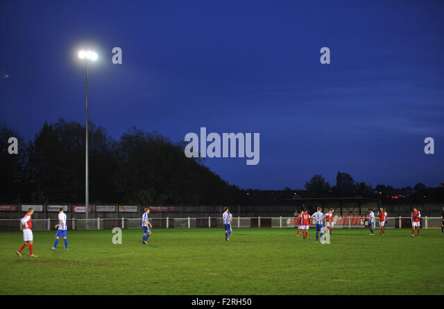 Football Ground Floodlights : Didcot town stock photos images alamy
