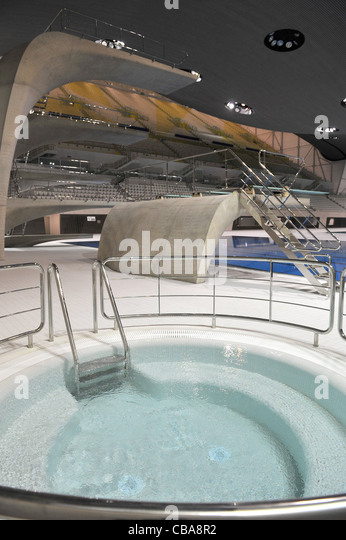 july 2012 london england the swimming jacuzzi and diving arena at olympic village