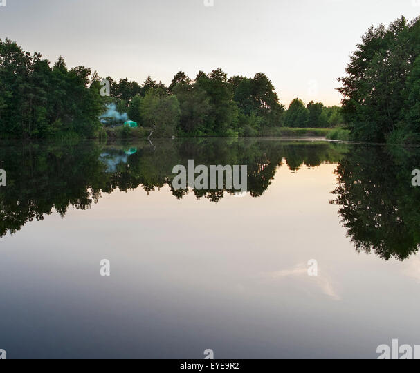 Tent on wild evening riverside - Stock Image & Riverside Tent Stock Photos u0026 Riverside Tent Stock Images - Alamy