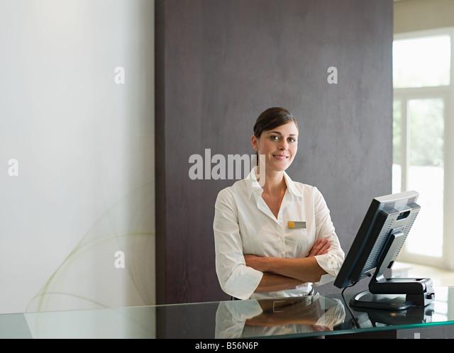 receptionist stock photos receptionist stock images alamy