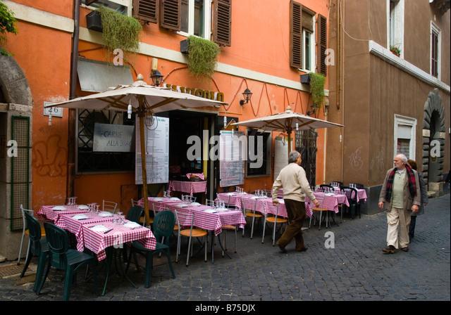 Trastevere Rome Restaurants Stock Photos Trastevere Rome