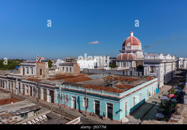 Antiguo Ayuntamiento, home of the provincial government building in Cienfuegos, UNESCO, Cuba, West Indies, Caribbean - Stock Image