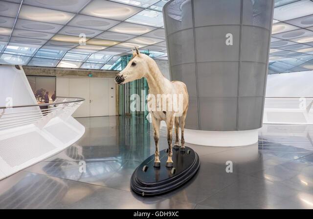 Interior mercedes benz museum in stock photos interior for Interio stuttgart