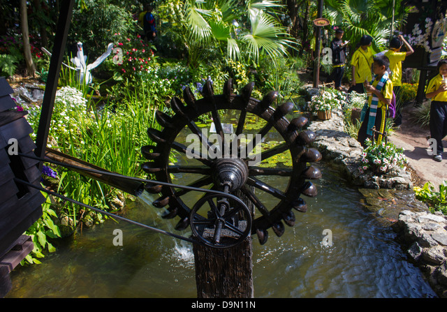 Waterwheel At Ratchapreuk Exhibition Chiang Mai Thailand   Stock Image