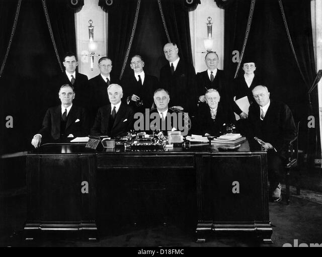Cabinet Franklin Delano Roosevelt Stock Photos & Cabinet Franklin ...