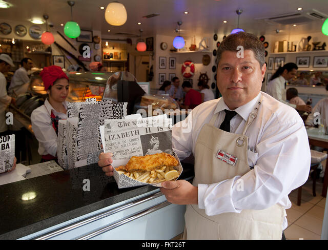Poppies fish and chips london stock photos poppies fish for Fish and chips london