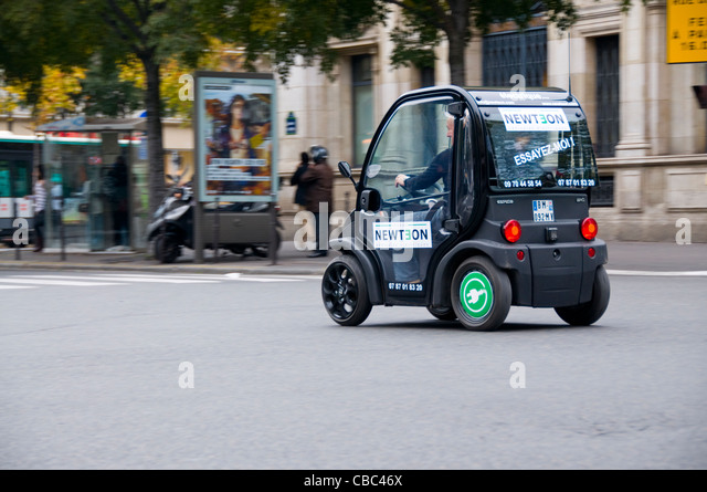Small Electric Car Stock Photos Small Electric Car Stock Images