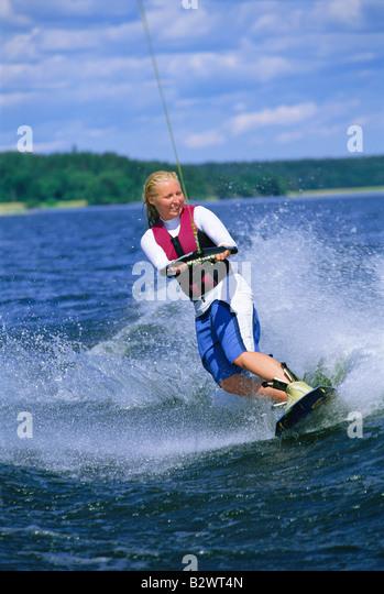 Waterskiing woman jpg