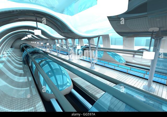 Futuristic Train Interior Futuristic Interior Sc...