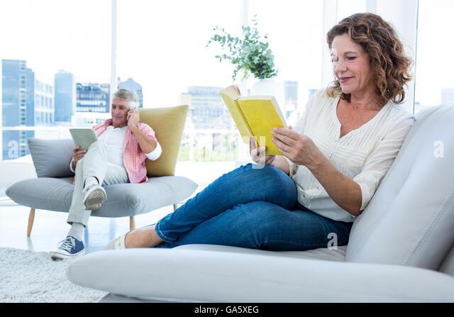 Mature maria reading