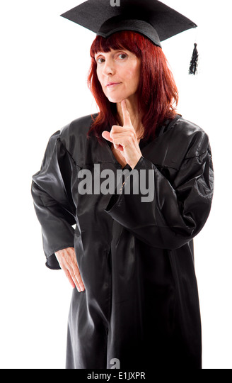 Mature Woman Raised Hand Index Stock Photos & Mature Woman Raised ...