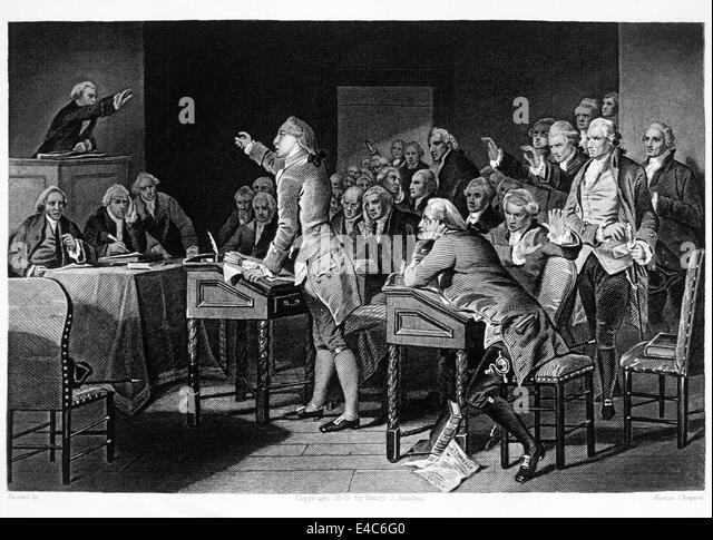 Great Patrick Henry Addressing The Virginia House Of Burgesses Against Taxation  Without Representation, 1765, Engraving