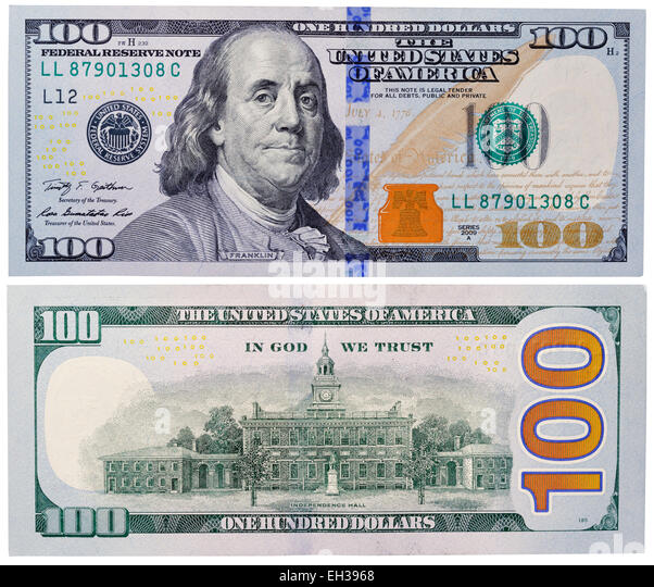 What does the new hundred dollar bill look like