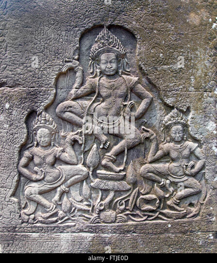 Carvings cambodia stock photos