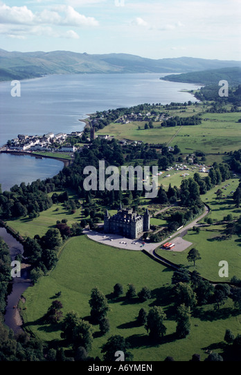 Inverary United Kingdom  City pictures : view of Inverary castle and Loch Fyne Inverary Scotland United Kingdom ...
