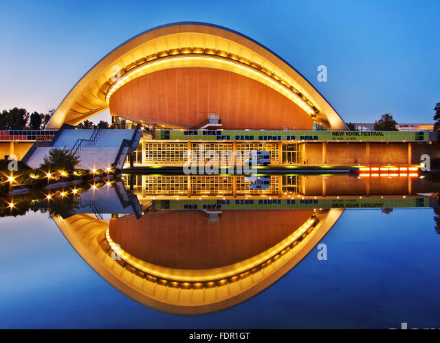 Berlinhouse of the cultures of the worldcongress hall stock image