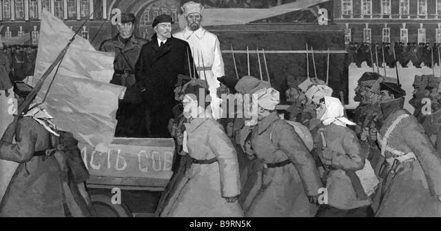 October Revolution Lenin Stock Photos & October Revolution Lenin ...