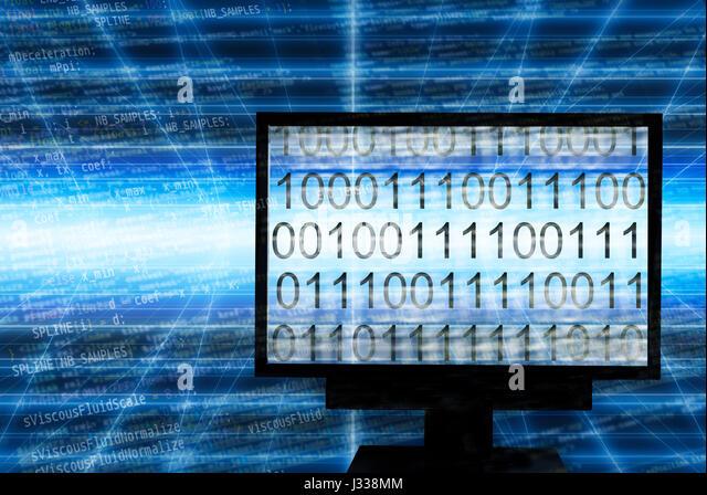 Binary digits in computer