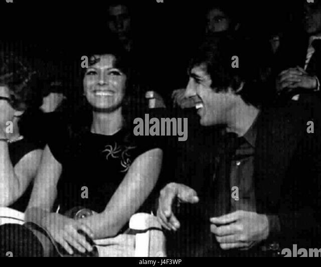 Adriano Celentano and Claudia Mori  Teatro 10 - Stock Image
