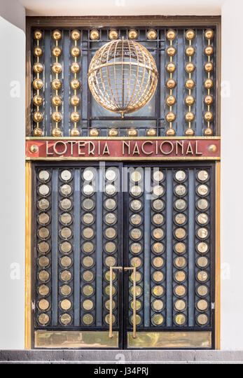 Mexico City, Mexico   22 April 2017: Art Deco Door Of The National Lottery