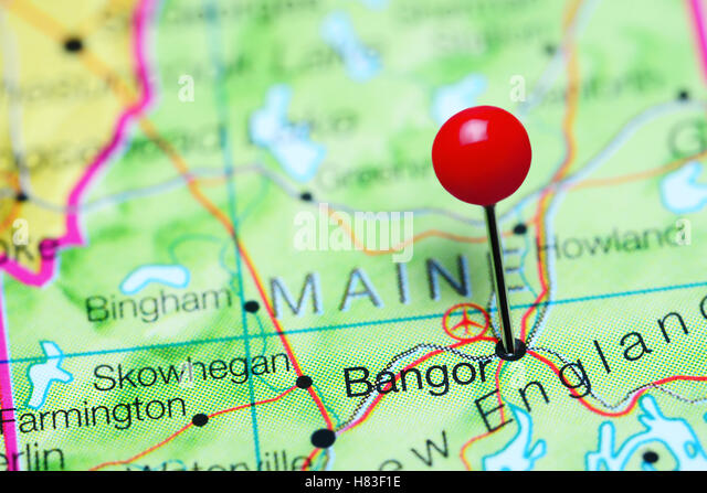 Maine State Map Stock Photos Maine State Map Stock Images Alamy - Map of maine usa