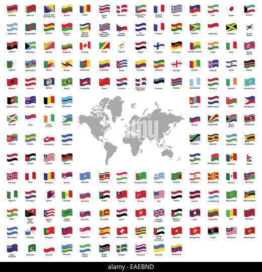 South africa map illustration flags stock photos south africa all official country flags and world map stock image gumiabroncs Gallery