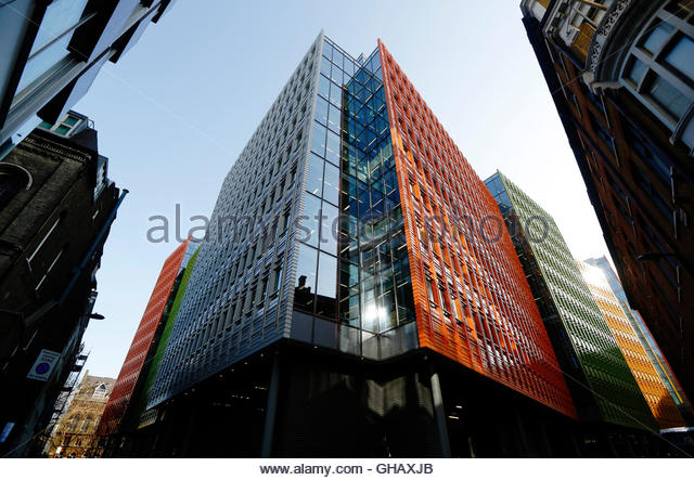 a view shows an office block at central st giles where google has offices in brightly colored offices central st
