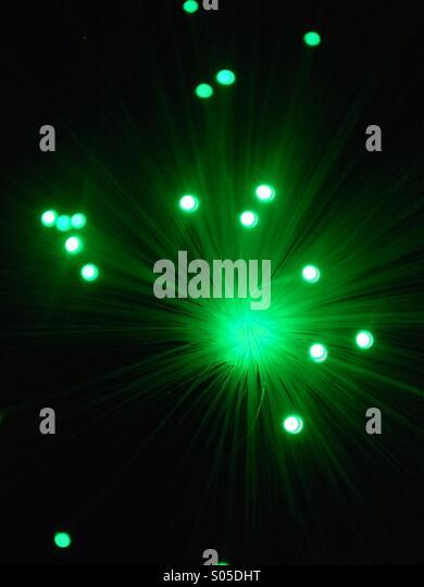 Fibre Optic Strands Emitting Colourful Light   Stock Image