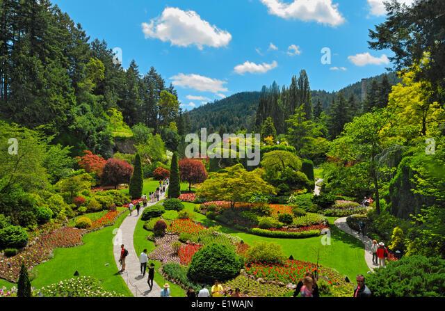 Victoria Canada Butchart Gardens Garden Ftempo