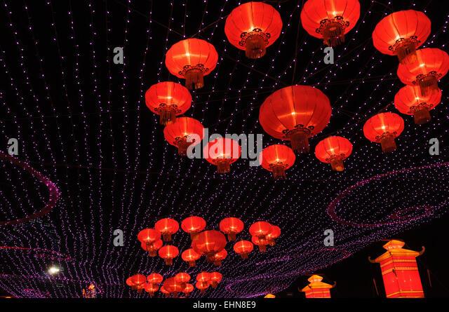 singapore chinese new year lantern festival stock image - Chinese New Year Lantern