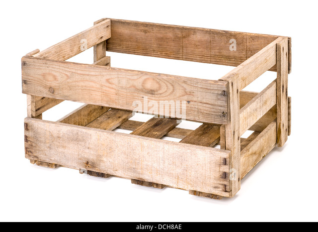 Empty wooden wine case stock photos empty wooden wine for Empty wine crates