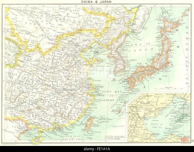Map China Japan Stock Photos Map China Japan Stock Images Alamy - Japan map 1900