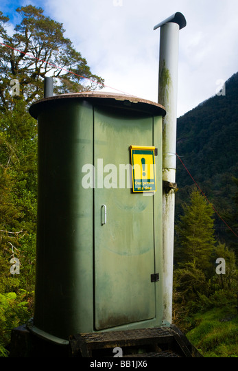 New Zealand Southland Fiordland National Park Back Country Toilet At Loch Maree Hut Along The Dusky