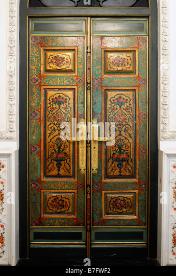 Ornate door interior stock photos ornate door interior stock interior room detail door opulent decorative decorated ornate private library niavaran complex museum tehran iran planetlyrics Image collections
