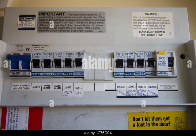 a domestic fuse box england c76gc4 fuse box domestic stock photos & fuse box domestic stock images fuse box switch off at bayanpartner.co