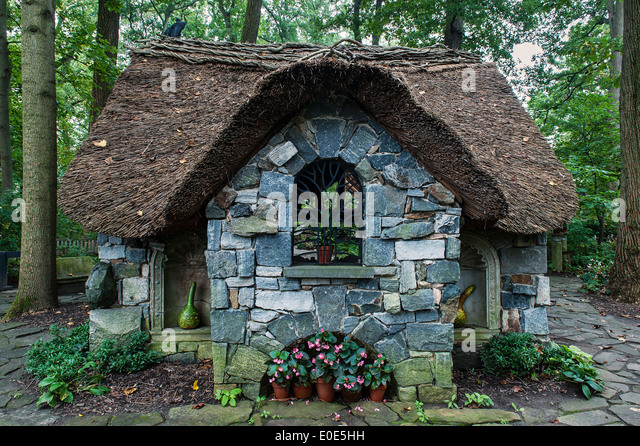 Thatched Cottage In The Enchanted Woods At Winterthur Gardens Delaware USA