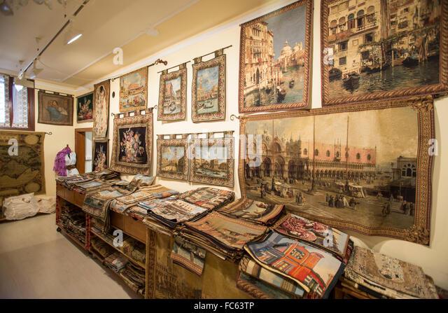Lace And Fabrics Shop Burano Venice Veneto Italy