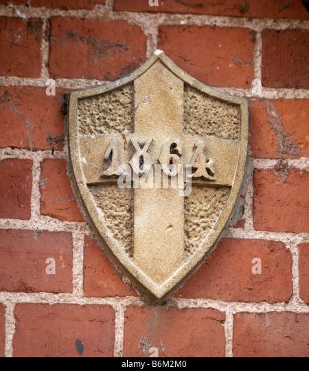Victorian brick wall stock photos