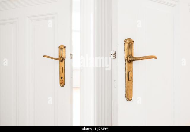Golden door stock photos golden door stock images alamy for Beautiful door handles