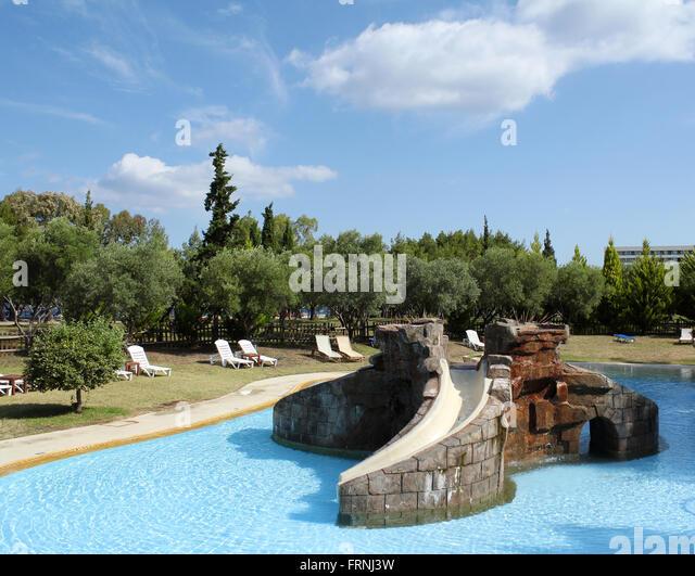 Children 39 s pool with slide stock photos children 39 s pool Swimming pools in liverpool with slides