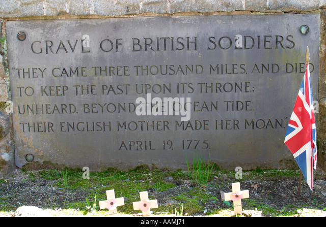 Image result for grave of 2 british soldiers concord